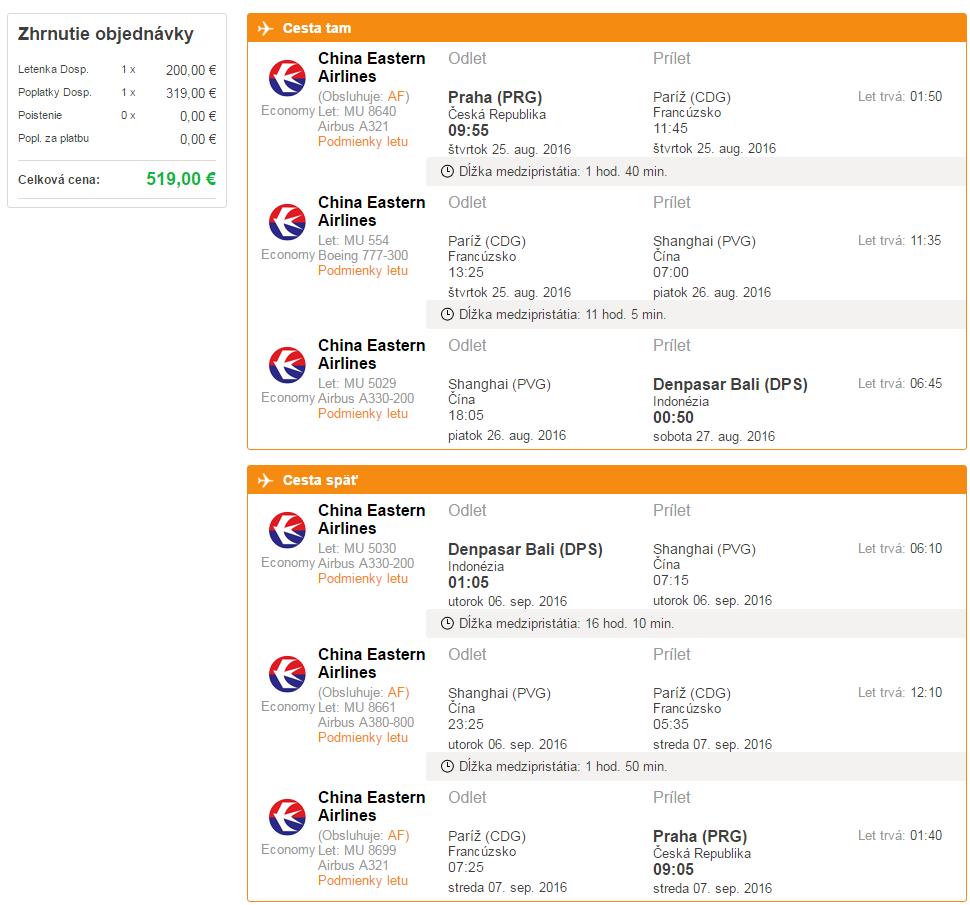 c82360006c530 Letecká spoločnosť: China Eastern Airlines Rezervovať je potrebné do: nie  je uvedené. Zobraziť dátumy letov: Praha – Denpasar Bali >>>
