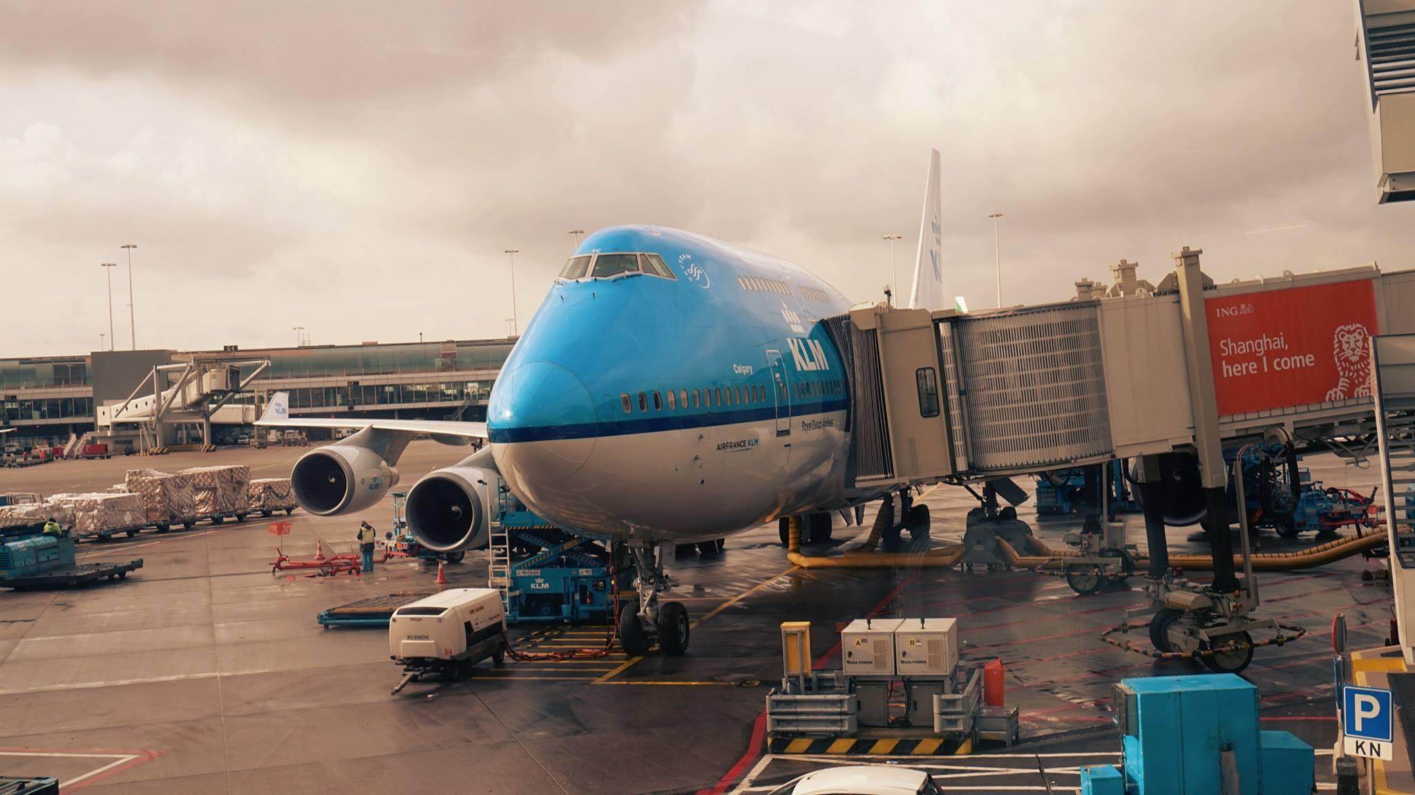 Boeing 747 KLM, Amsterdam Schiphol